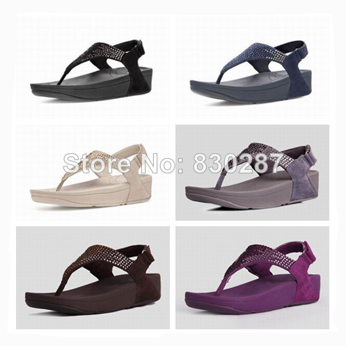 bc7ebed54130bb wholesale fashion flip flops flare sandals womens brand wedges diamond flat  slides sale cheap Black