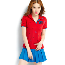 New Summer Women Tennis Badminton Suits with polo shirt and Bottom Dress Breathable Comfortable suit Female