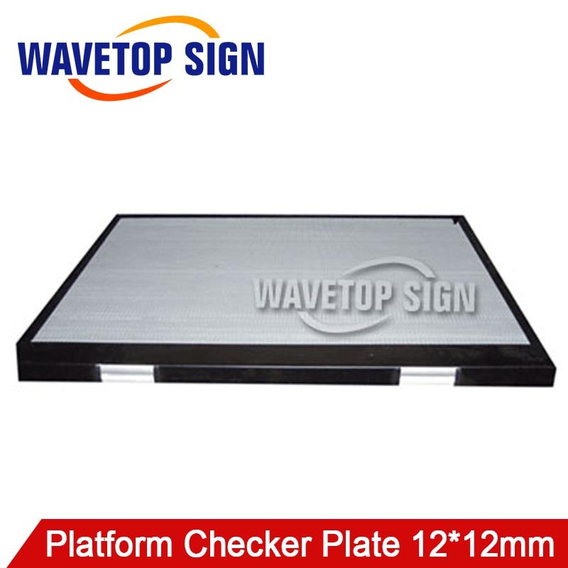 Платформа checker плиты/лазерная машина алюминиевая коробка плиты платформы/Акрил резки платформы доски/коробка 12 платформе 12X12 мм