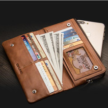 QIALINO holster for iphone 6 6s 7 & iPhone 7 plus Handmade Genuine Leather Wallet Case for Samsung S6 S6 edge S7 S7 edge(China)