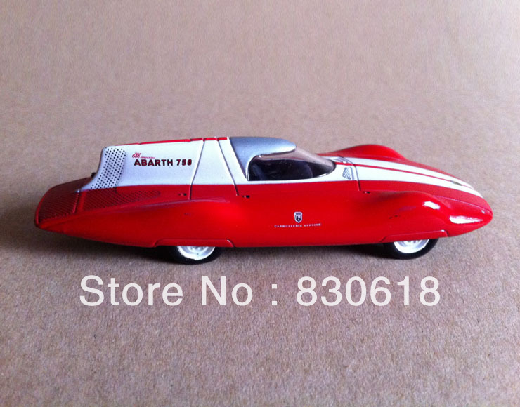 <font><b>1</b></font>/<font><b>43</b></font> scale 750 record (monza luglio 56) 1956 DIE CAST by metro red <font><b>car</b></font> toy image