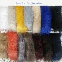 High grade fox hair dye tip 6CM high gram weight fox hair dye tip clothing fur collar hair ball bag shoe material