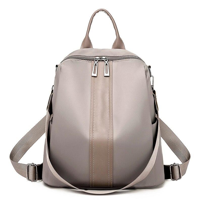 Female High Quality Nylon Waterproof  Multifunction Backpacks Women Large Capacity Travel Backpack Famous Designer Shoulder Bags