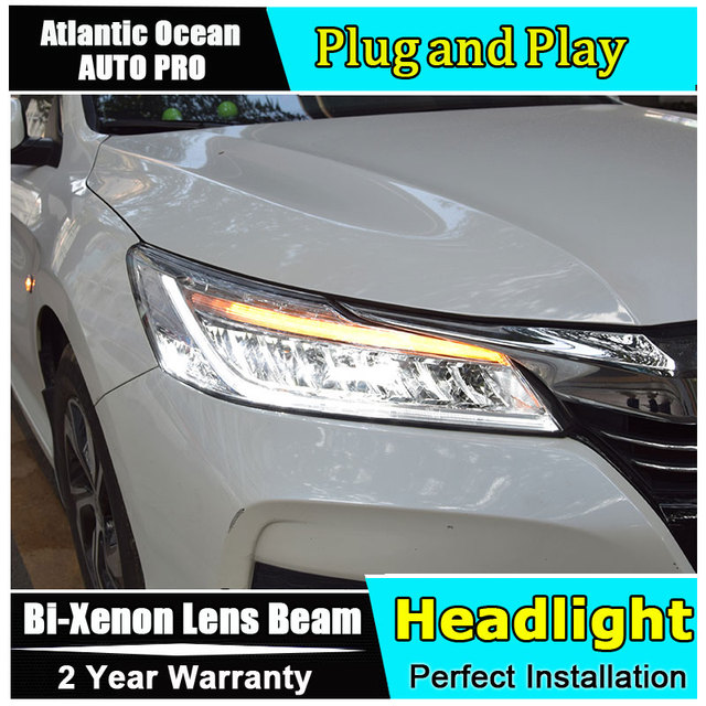 Car Styling LED Head Lamp For Honda Accord Led Headlights 2016 2018 FOR  Accord Head