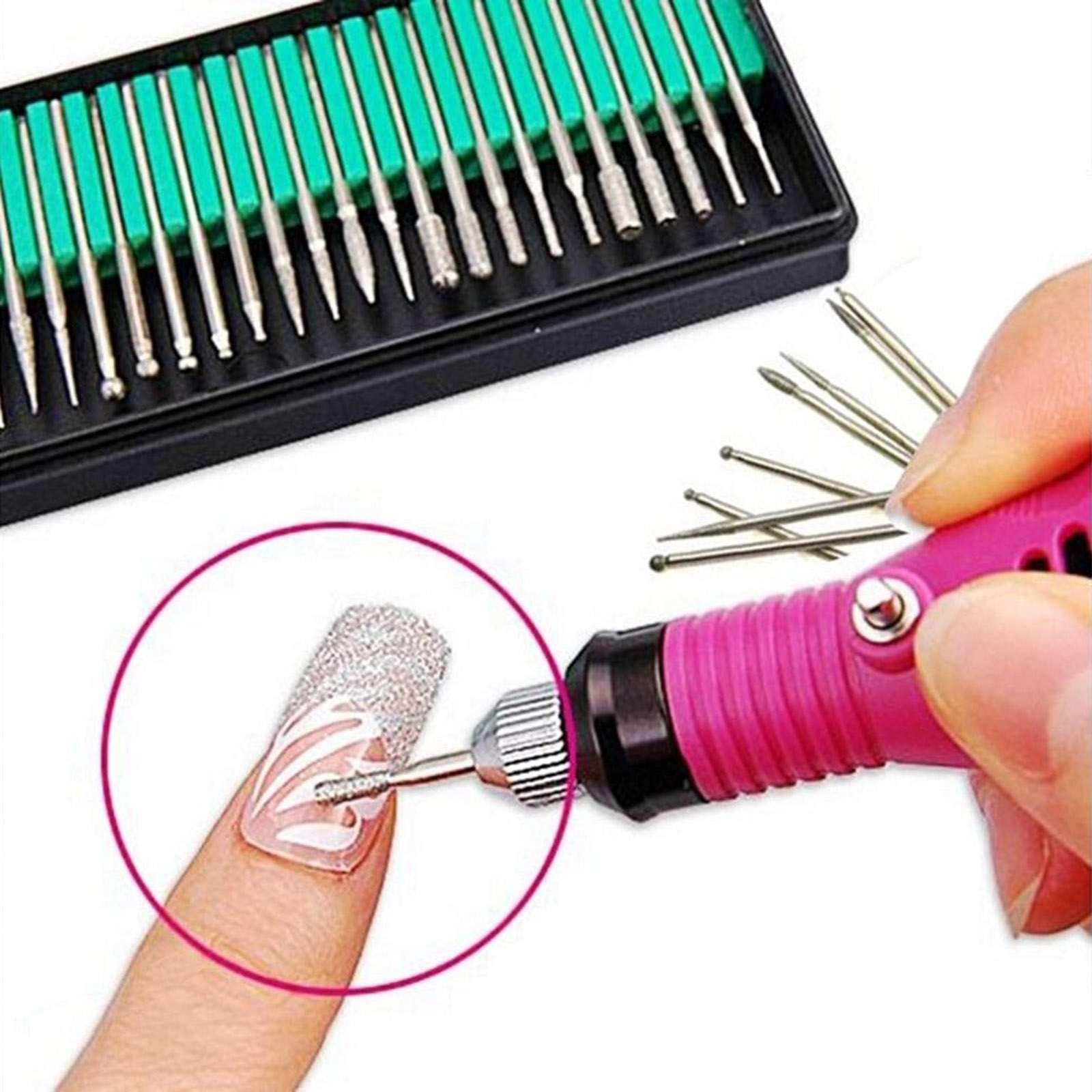 30Pcs/set Nail Drill Bits Electric Drill Manicure Machine Cutter ...