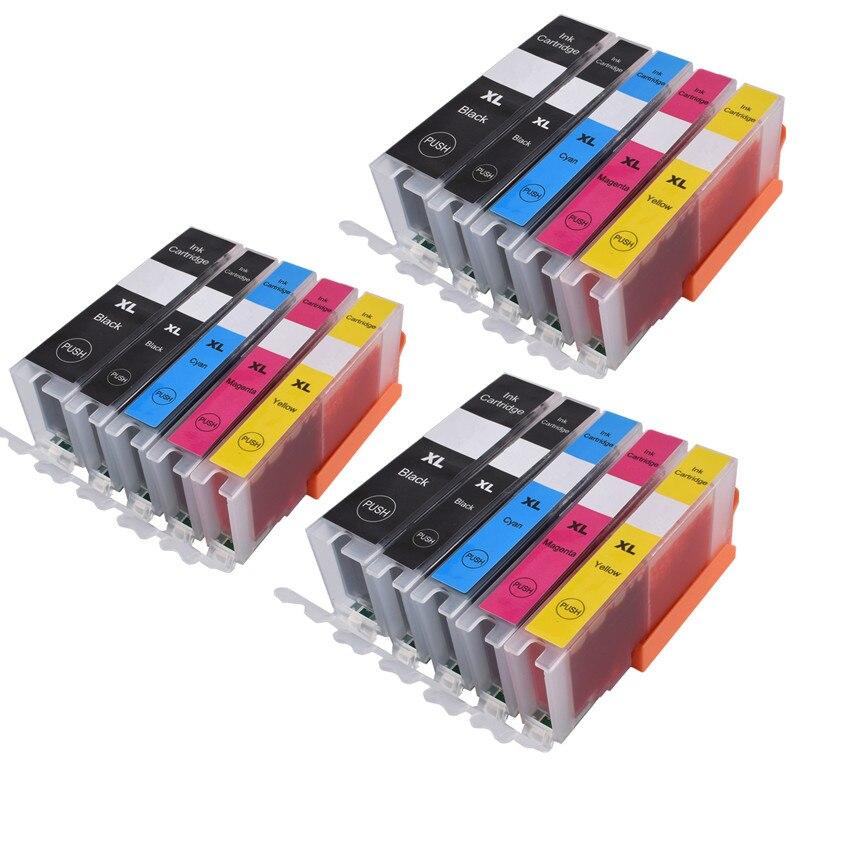 570 571 PGI-570 CLI-571 совместимый чернильный картридж для принтера canon принтерам PIXMA MG5750 MG5751 MG5752 MG6850 MG6851 MG6852 TS6050 TS5050 5051 - Цвет: 3PGBK 3BK 3C 3M 3Y