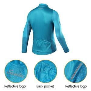Image 3 - Santic Men Cycling Jersey Long Sleeves Fit Comfortable Sun protective Road Bike Tops MTB  Jersey  Jerseys Asian Size WM8C01100