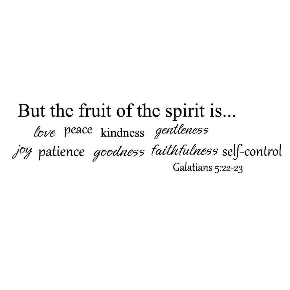 Religious Love Quotes Fruit Of Spirit Wall Quote Decal Bible Wall Quote Religious Wall