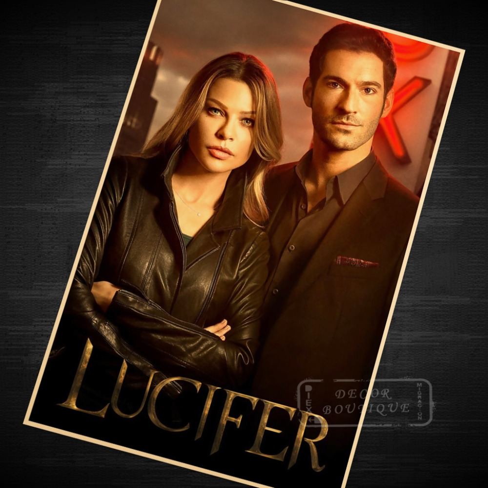 Lucifer Season 4 Remiel: Lucifer Season 1 (2016) Classic TV Canvas Painting Vintage