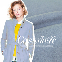 Light Blue Single Tier Double Faced Fleece Woolen Autumn And Winter Fashion Overcoat Fabric