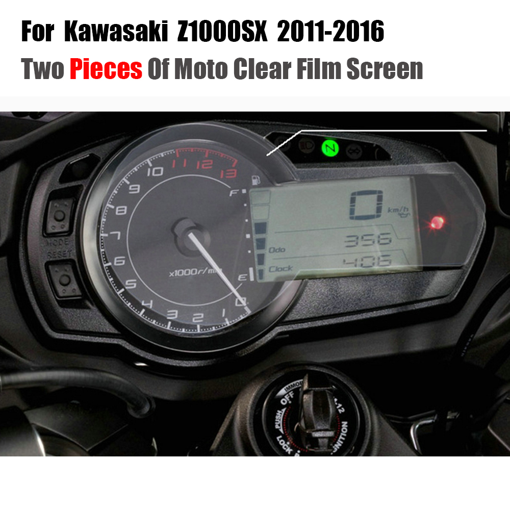 JMCRider For Kawasaki Z1000 SX <font><b>Z1000SX</b></font> <font><b>2011</b></font> 2012 2013 2014 2015 2016 Cluster Scratch Protection Film Screen Protector image