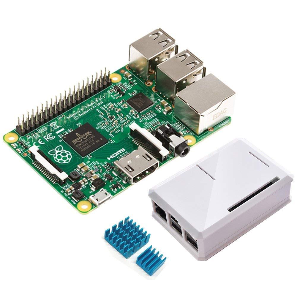 Raspberry Pi 2 Modèle B + Étui Exclusif (Lait Blanc ABS Édition) cas + Radiateur Type B Starter Kit