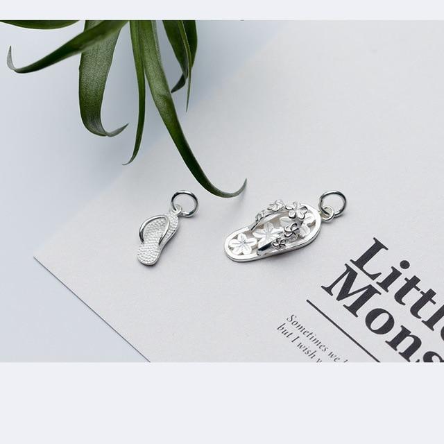 Тапочки женские маленькие из серебра 100% пробы с бусинами