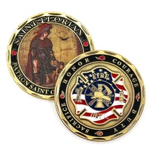 ST FLORIAN PATRON SAINT OF FIREFIGHTERS FIRE DEPARTMENT CHALLENGE COIN