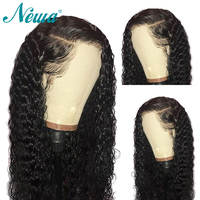 Pre Plucked Lace Front Human Hair Wigs With Baby Hair Brazilian Remy Hair For Black Women Glueless Curly Lace Front Wigs NYUWA