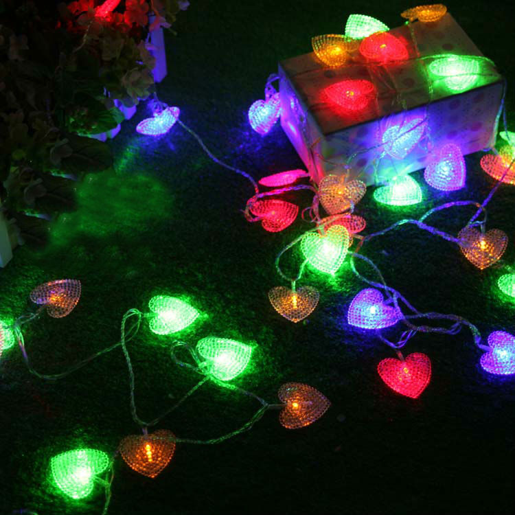 NEW 100m LED STRING Strip 600 Hearts LED Holiday CHRISTMAS WEDDING Curtain Decoration LIGHTs Lamps