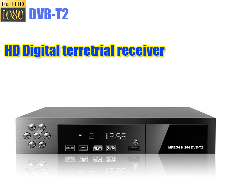 1080P HD Digital Terrestrial Satellite TV Receiver DVB-T2 PVR TV SET TOP BOX with USB HDMI Interface,DVB-T2 Tuner, MPEG4 / H.264 dvb t2 car 180 200km h digital car tv tuner 4 antenna 4 mobility chip dvb t2 car tv receiver box dvbt2