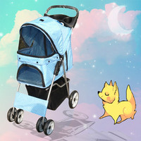 2016 Dog Bag Four Wheel Pet Stroller, For Cat, Dog , Foldable Carrier Strolling Cart, Strollers Gear For Sale Multiple Colors