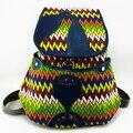 Tribal Vintage Hippie Ethnic Boho rucksack Boho hippie ethnic bag, backpack bag full painting, colorful SYS-369J