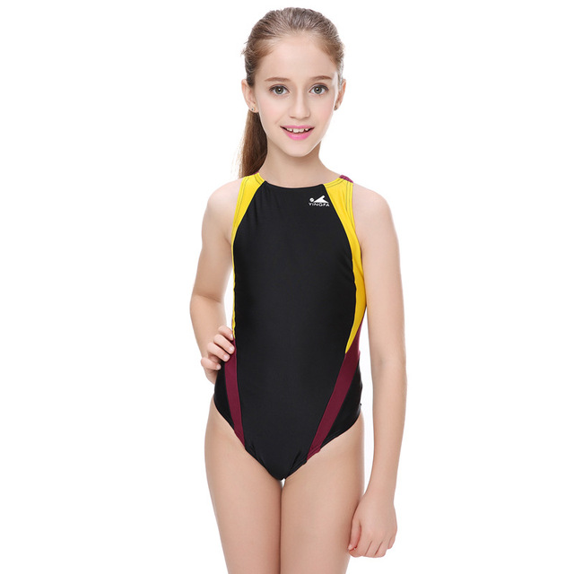 97f1d141b2b12 Professional Children Swimwear Racing Girls One Piece Swimsuits Tight Baby  Girl Bathing Suits Competition Bodybuilding Bathers