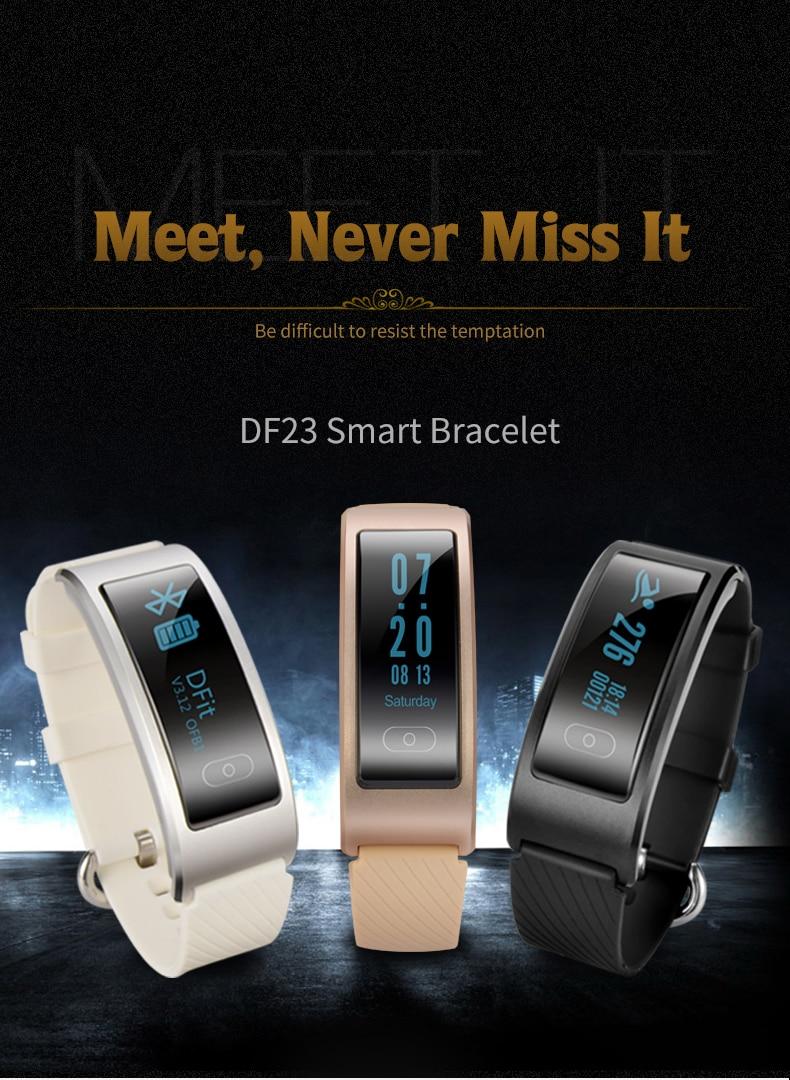 DF23 Smart Band Heart Rate Monitor Smartband Waterproof Swimming Intelligent Clock Watch Sport Bracelet For Huawei