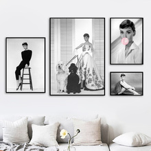 Black White Audrey Hepburn Bubble Quotes Wall Art Canvas Painting Nordic Posters And Prints Pictures For Living Room Decor
