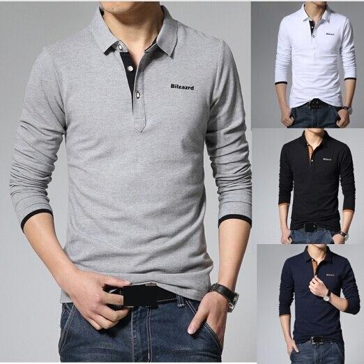 2015 New Fashion Men s Slim Fit Long Sleeve POLO Shirt Brand Spring Autumn  Skinny Men s POLO Shirt Men Clothing Plus Size 3XL 2cac3f94230d