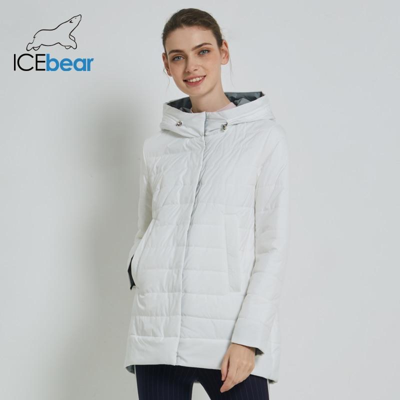 ICEbear 2019 vrouwen Jas Hoge Kwaliteit Vrouw Jas Casual Vrouwelijke Kleding Hooded vrouwen Jas GWC19015I-in Parka's van Dames Kleding op  Groep 3