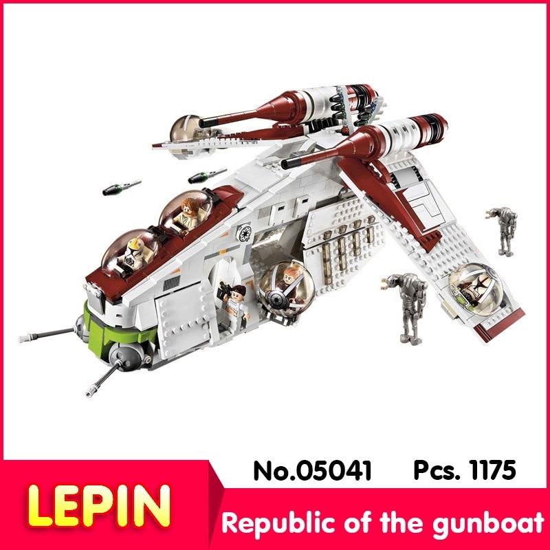 ФОТО LEPIN 05041 1175Pcs Star War Series The The Republic Gunship Educational Building  Blocks Bricks    75021