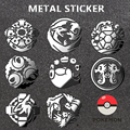 Pokemon G Metal sticker for Car, home, computer, mobile phone pad A variety of styles toys for children 8PCS/a lot