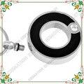 CMJ8074 círculo de vida de acero inoxidable joyería de cremación de tono plata brillante con negro epoxi colgante urna de cenizas