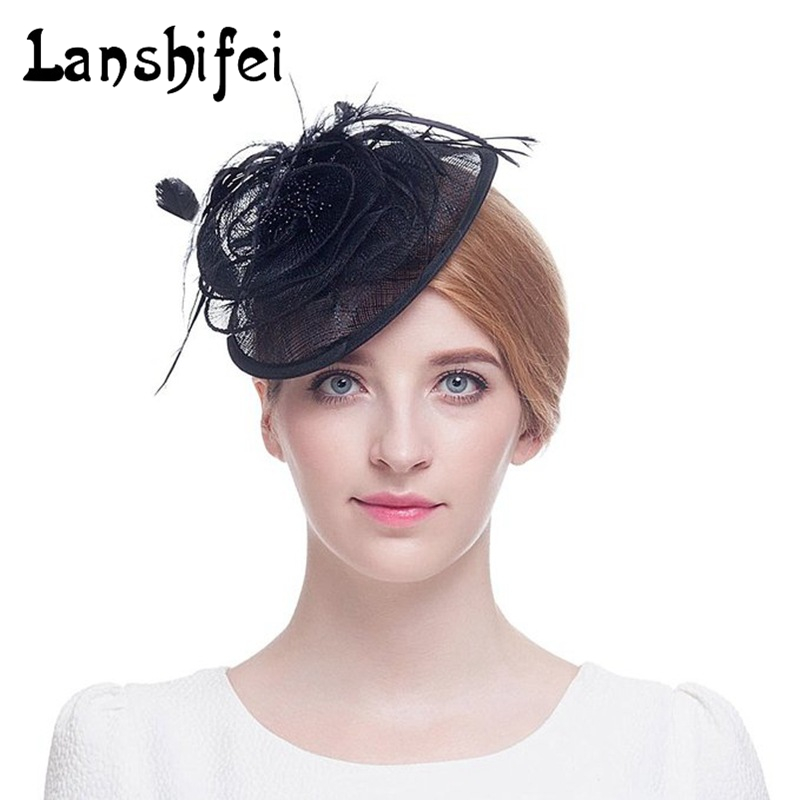 Vintage Lace mesh Hats Chapeau Mariage Wedding Bride Hat Party Veil Rose European Birdcage Modern Wedding Accessories hairpin