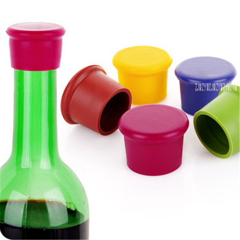 500pcs Candy color food grade silicone fresh bottle cap wine bottle stopper red wine stuffed beer flavoring stopper fresh