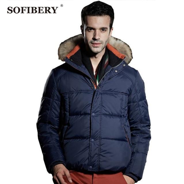 Sofibery Escudo 2017 Nueva Moda/hombres abrigo/abrigo de invierno de los hombres/lana gruesa Abajo hombres/los hombres de la nieve abrigo/3 Colores M-XXXL