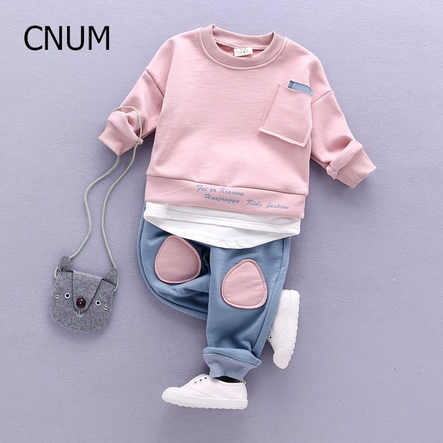 CNUM Autumn Kids Clothing Sets Children's Wear Cotton Casual Tracksuits Kids Clothes Sports 2 Pieces Suit Children Sets Winter