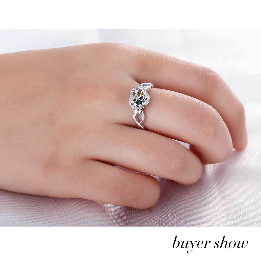 Fashion Personalized Silver Ring 925 Sterling Silver Classic Heart ...