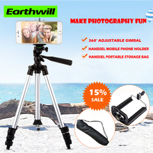 Portable digital camera tripod three single micro mobile phone monopod send clip