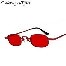 5defcf088a4ce 2019 Armação De Metal Mulheres óculos de Sol Quadrados Bonito Sexy Marca  Designer Pequeno Retro Pequeno Quadro Vermelho Óculos d.