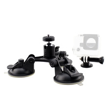 ANJIRUI Sports camera Accessories for GOPRO hero3+/4/5 low angle car with pan/tilt triangle suction cup Stand Holde