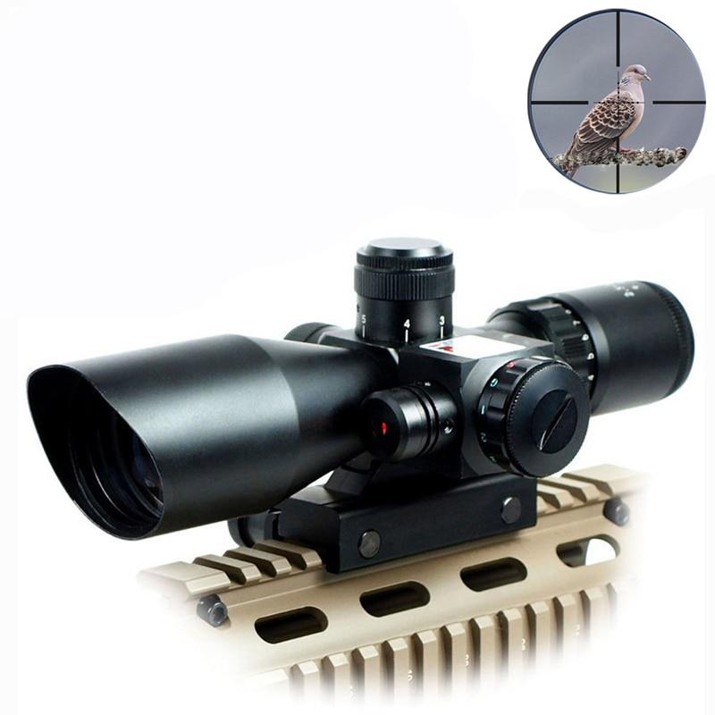 Lunette de chasse optique tactique rouge vert portée de visée Laser 2.5-10x40 tir Airsoft portée illuminée 11/20mm montage sur Rail