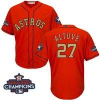 Hombres Houston Astros José Altuve majestuoso naranja 2018 Programa de oro bajo fresco Jersey jugador