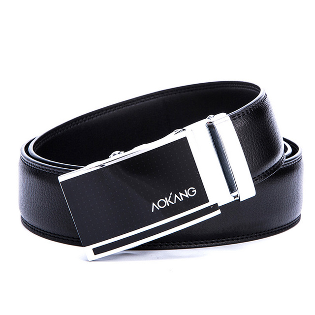 Aokang 2017New Arrival Men belts Business Style Genuine Leather Belts for Men Cowskin Men's Automatic Buckle Belts Free shipping