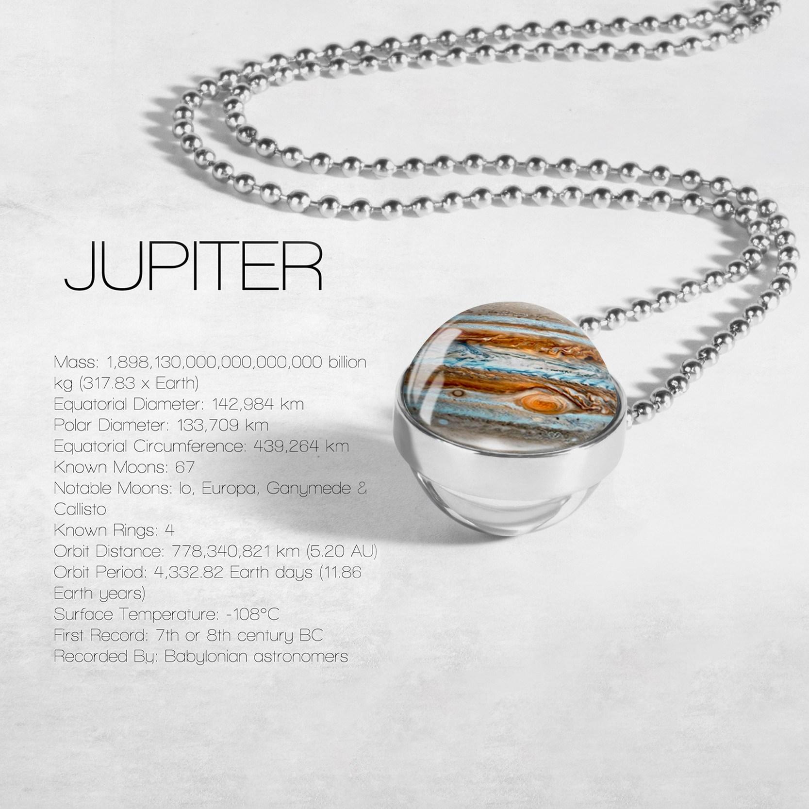 Globe Double Sided Necklace Solar System Planet Venus Mercury Mars Saturn Uranus Neptune Earth Sun Pendant Dome Glass Necklaces 7
