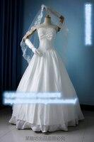Судьба/Ночь Сабер Тип Луна 10th Anniversary Косплэй костюм Вечерние белый свадебное платье фата + Средства ухода за кожей шеи + glvoes + платье + суеты