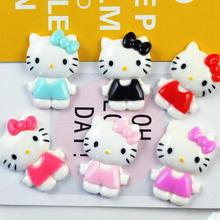 2ac78ff45 Resin small handicraft 100pcs Resin Hello kitty flat back Cabochon DIY Flat  Back for Hair Bow