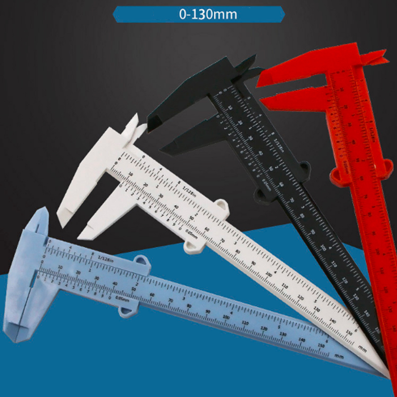 1 Piece 130/150 mm Mini Plastic Sliding Vernier Caliper Gauge Measure Tool Ruler