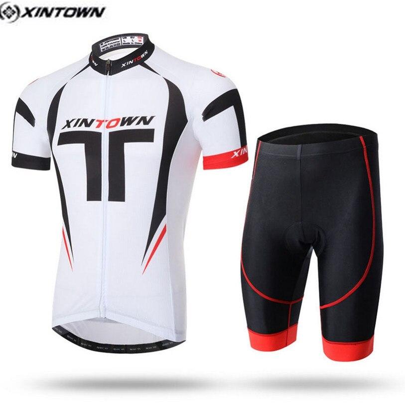 49ae663e1 2016 XINTOWN Men Cycling Jersey Bib Shorts Sets White Black Pro mtb Bike  Clothing Suits Team Cycling Shirts Top Clothes-in Cycling Sets from Sports  ...