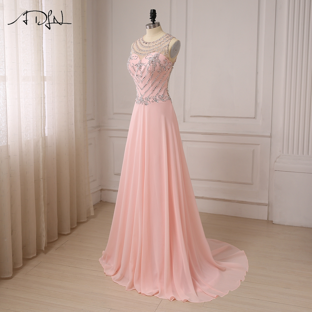 4cf22adfecb ADLN Luxury Stones Crystals Prom Dresses See through Back Cap Sleeve Sexy  Party Evening Gowns-in Prom Dresses from Weddings   Events on  Aliexpress.com ...