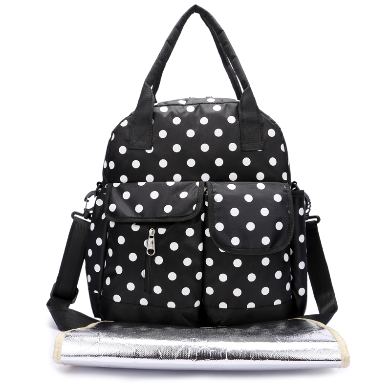 baby mother bag with Insulated Zippered Bottle Bag, Padded Changing Diaper Tote Bag for Toddler 3IN1Handbag Shoulder Bags