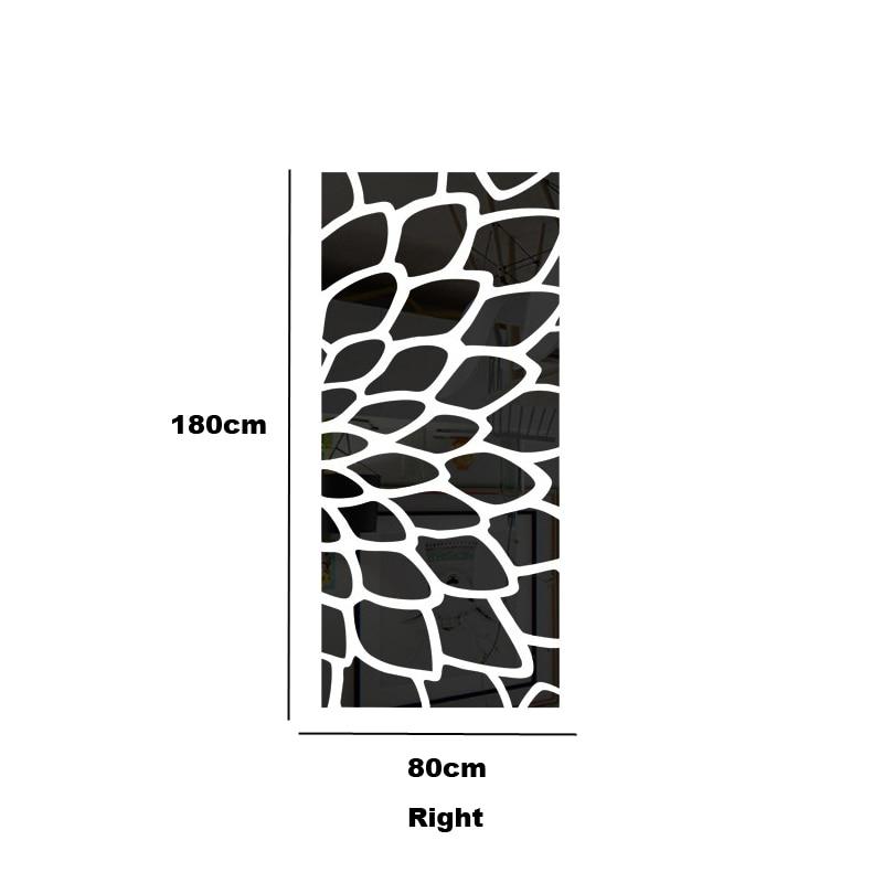 DIY vari colori creativi della moda primavera natura cerchio fiore 3D TV adesivo parete decalcomania della parete a specchio R017 - 5